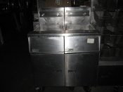 Pitco Four Bank Fryer With Filtration Unit