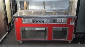 Used Four Hole Hot Food Steam Table