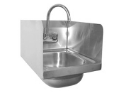 Hand sink with splash guards NEW