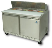 "Two door sandwich-salad prep unit, 48"" wide"