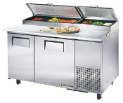 "True TPP-60 60"" Refrigerated Pizza Prep Table"