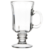 Libbey 5294 8.25 oz. Irish Glass Coffee Mug with Optic Design