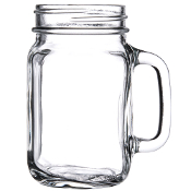 Libbey 97084 16 oz. Drinking Mason Jar with Handle