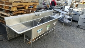 USED Three Compartment Sink